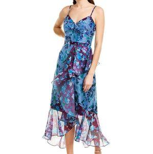 Marchesa Notte floral midi dress